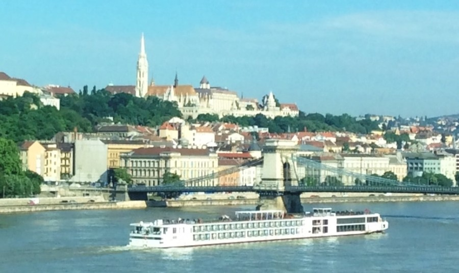 Viking River Cruises - Viking Longship on the Danube River in Budapest