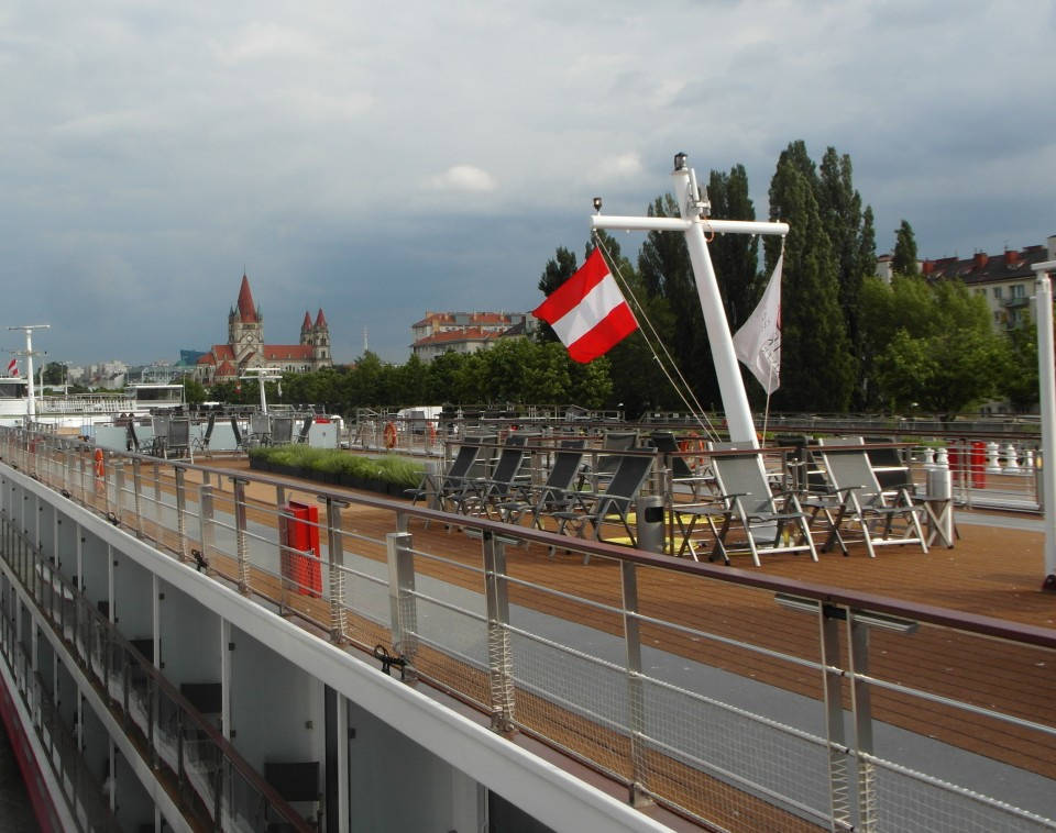 Viking River Cruises - small part of long upper deck