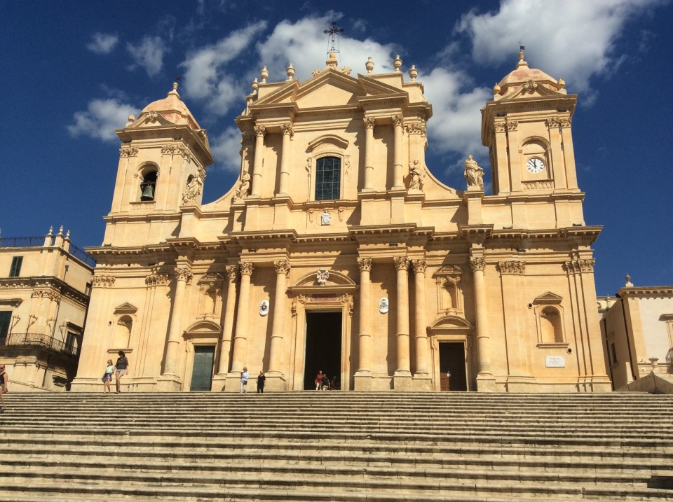 Southeast Sicily : A great church in small town of Noto
