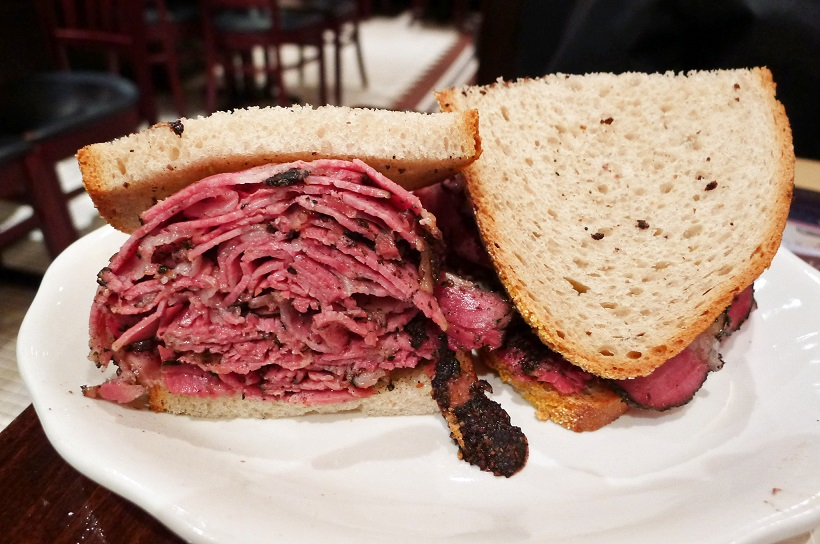 A heavenly warm pastrami on rye at 2nd Ave Deli