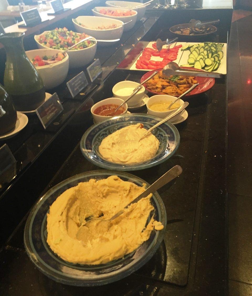 Israeli Breakfast : Hummus and Salads