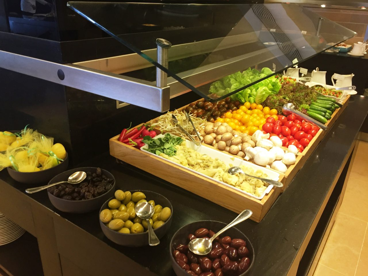 Israeli Breakfast : Farm Fresh Veggies and Olives