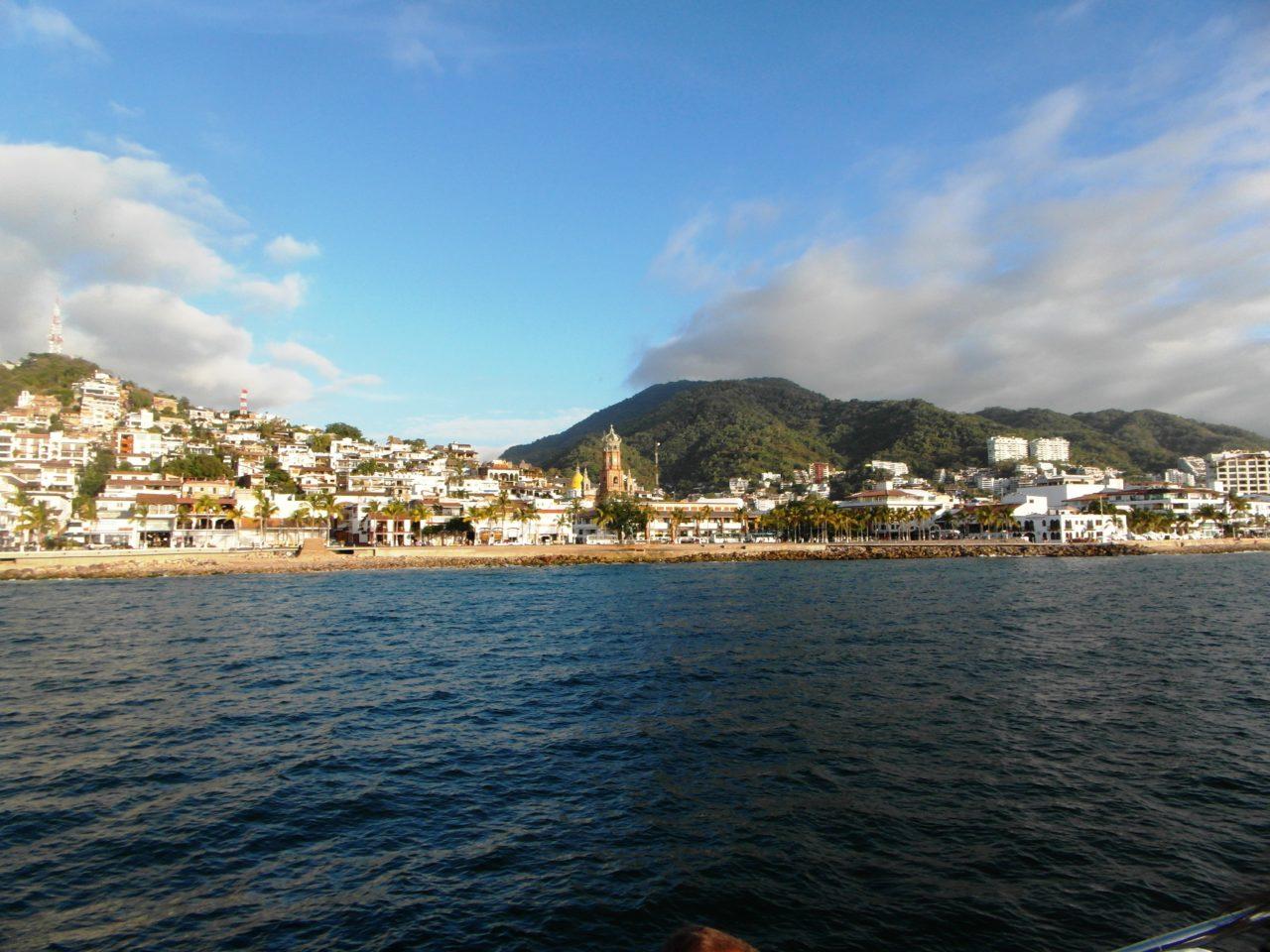 Puerto Vallarta Favorite Experiences : old Puerto Vallarta viewed from our ... power boat