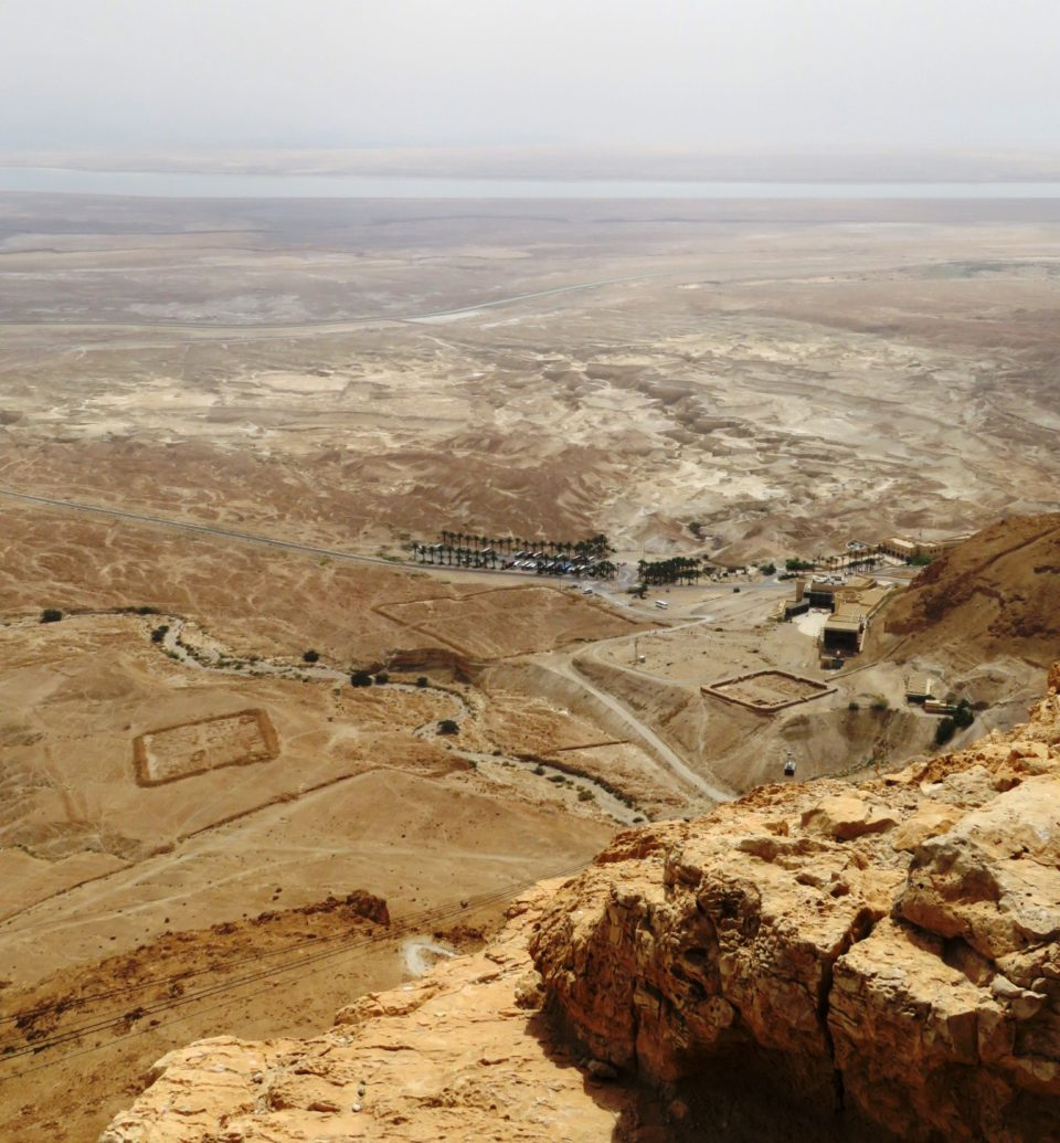 Favorite Israel Vacation Experiences : The Dead Sea, remains of two Roman Legion camps, Masada Visitor Center, viewed from top of Masada Fortress