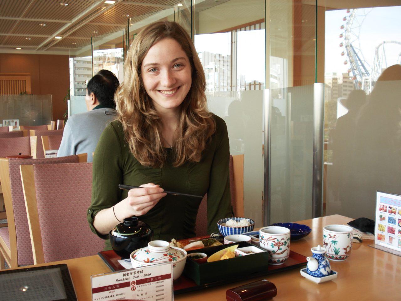Technion : Japanese Breakfast in Campus Restaurant