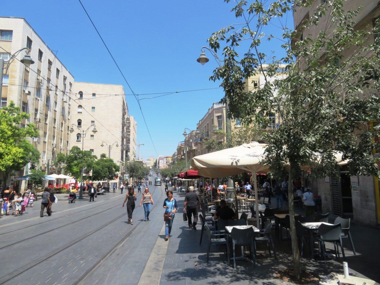 The joys of walking Jerusalem - Jaffa Street in downtown Jerusalem