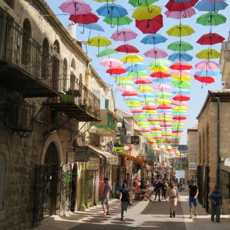The joys of walking Jerusalem - a street in the Nahalat Shiva neighborhood