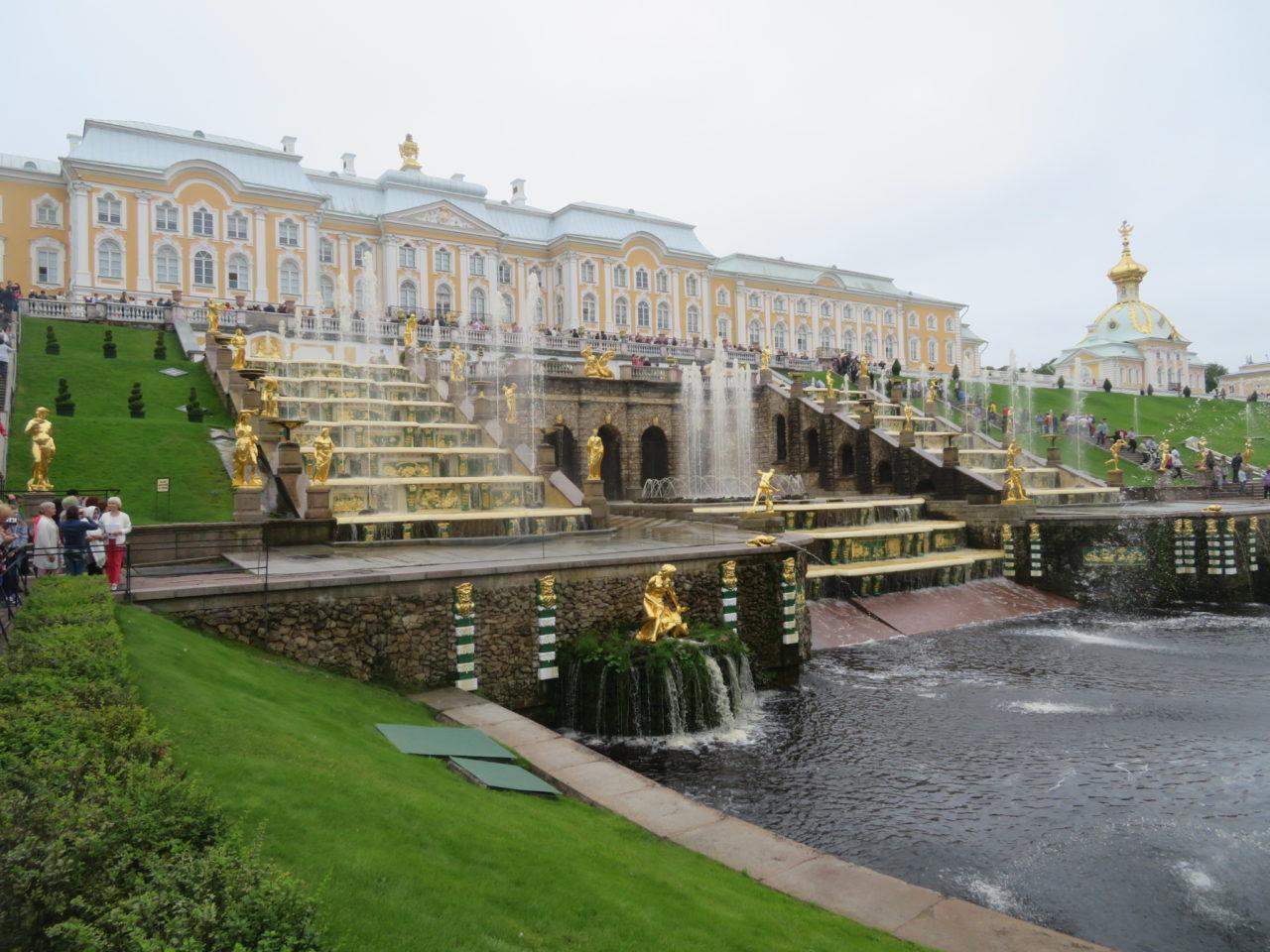 Peterhof Palace in Peterhof, near St. Petersburg, Russia