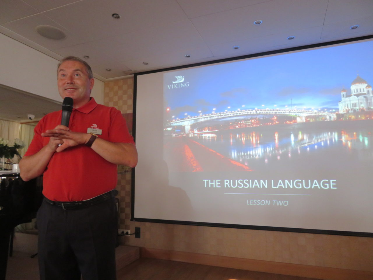 Russian history, culture, even Russian language lessons on every day of our Viking River Cruise in Russia by our three very erudite Russian tour escorts