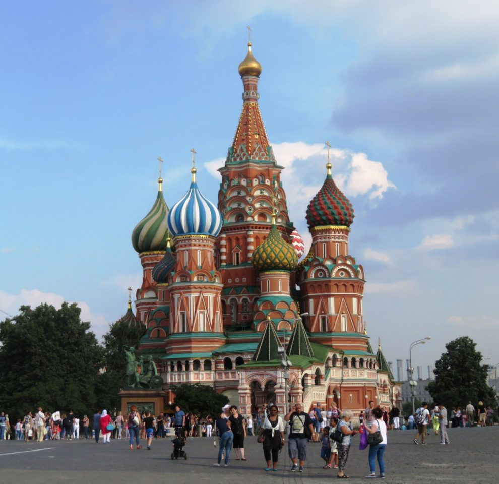 St. Basil Cathedral on Red Square in Moscow, Russia