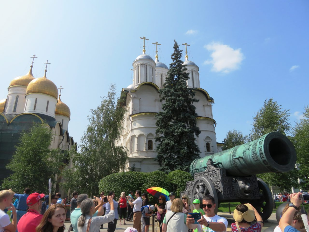 Inside the Kremlin walls in Moscow, Russia