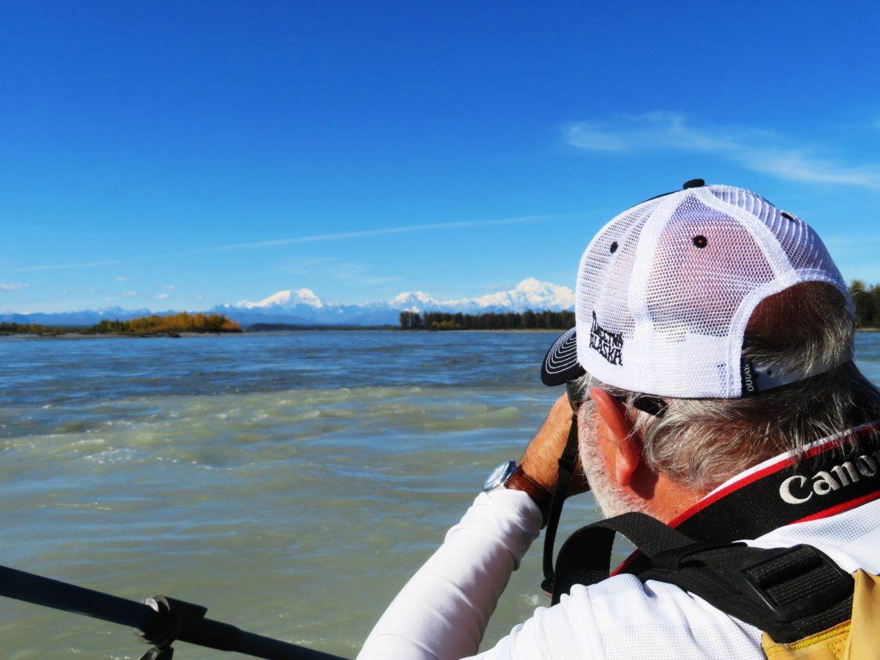 Rafting down the Talkeetna River during our Alaska Cruise with Princess Cruises