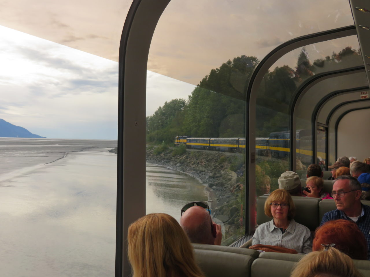 Aboard Princess Rail and its glass-domed panoramic rail cars during our Alaska Cruise with Princess Cruises