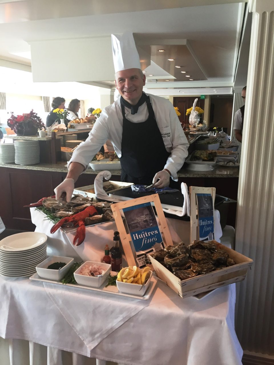 Oysters from Normandie at lunch onboard the AMALegro (Paris and Normandie AMAWaterways Cruise)