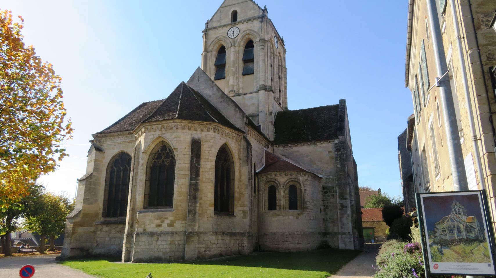 Painted by Vincent Van Gogh, the church of Auvers-sur-Oise, France (Paris and Normandie AMAWaterways Cruise)