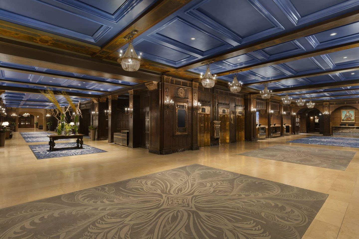 Stunning Lobby of the Fairmont Le Chateau Frontenac