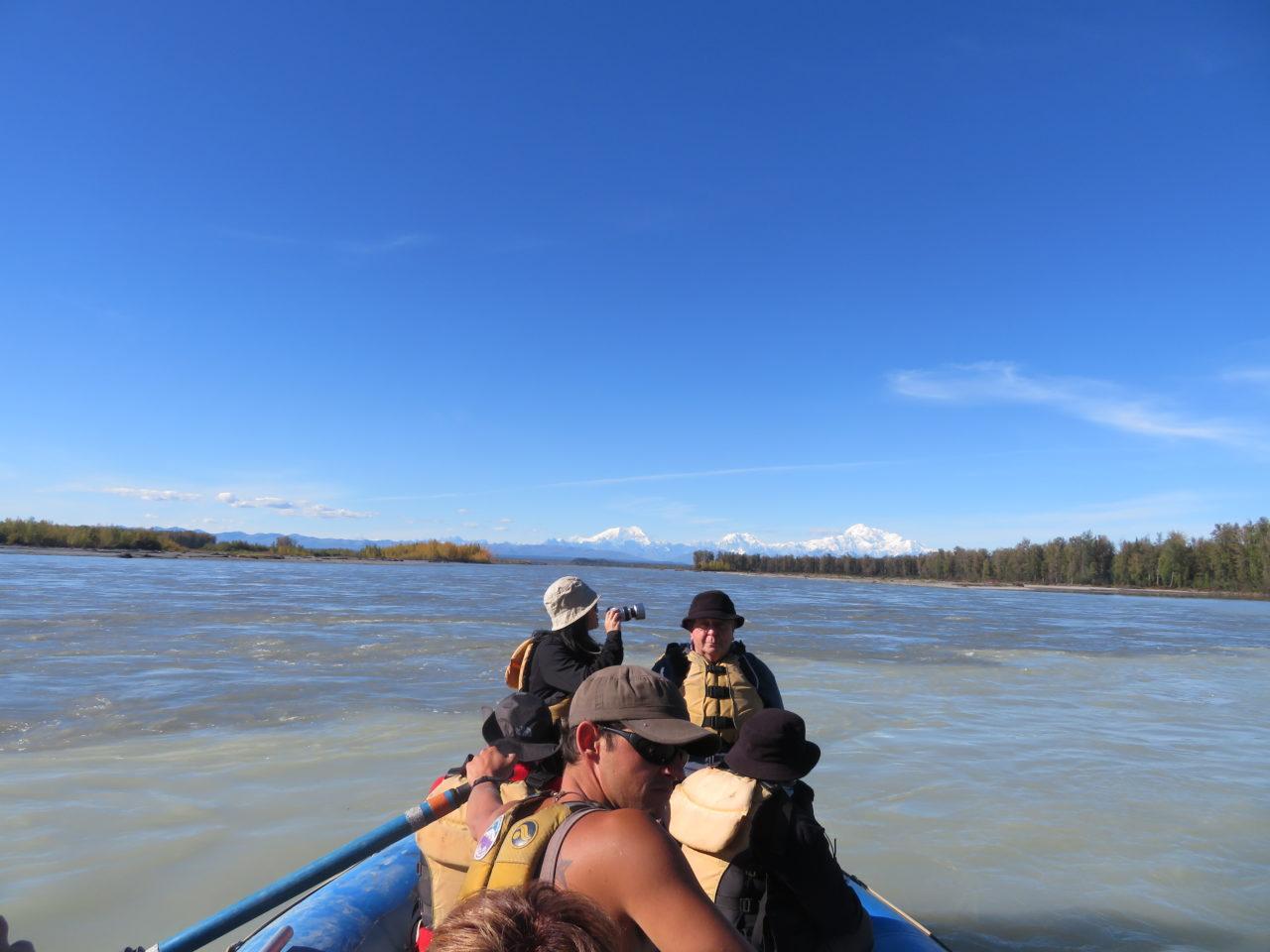 River rafting in the shadow of Denali ~ Alaska Cruise Tour