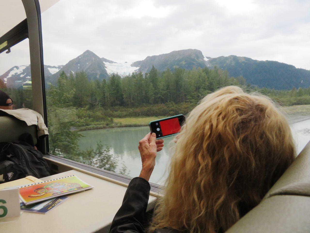 Sightseeing aboard glass-domed panoramic Princess Rail ~ Alaska Cruise Tour