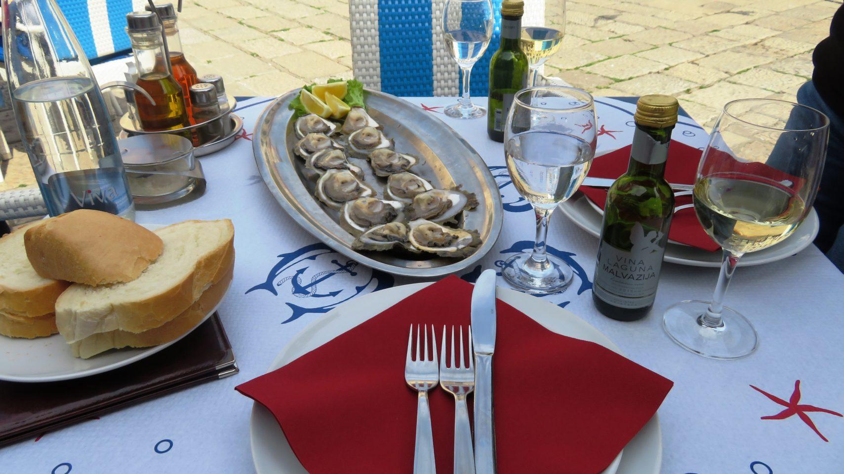 VIKING OCEAN CRUISES ~ Fresh Oysters in Dubrovnik, Croatia