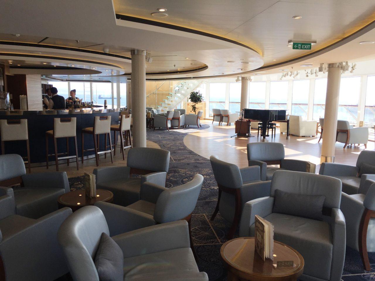 <em><strong>Viking Ocean Cruise Ships ~</strong> </em> Explorer's Lounge on the <em><strong>Viking Star</strong></em>
