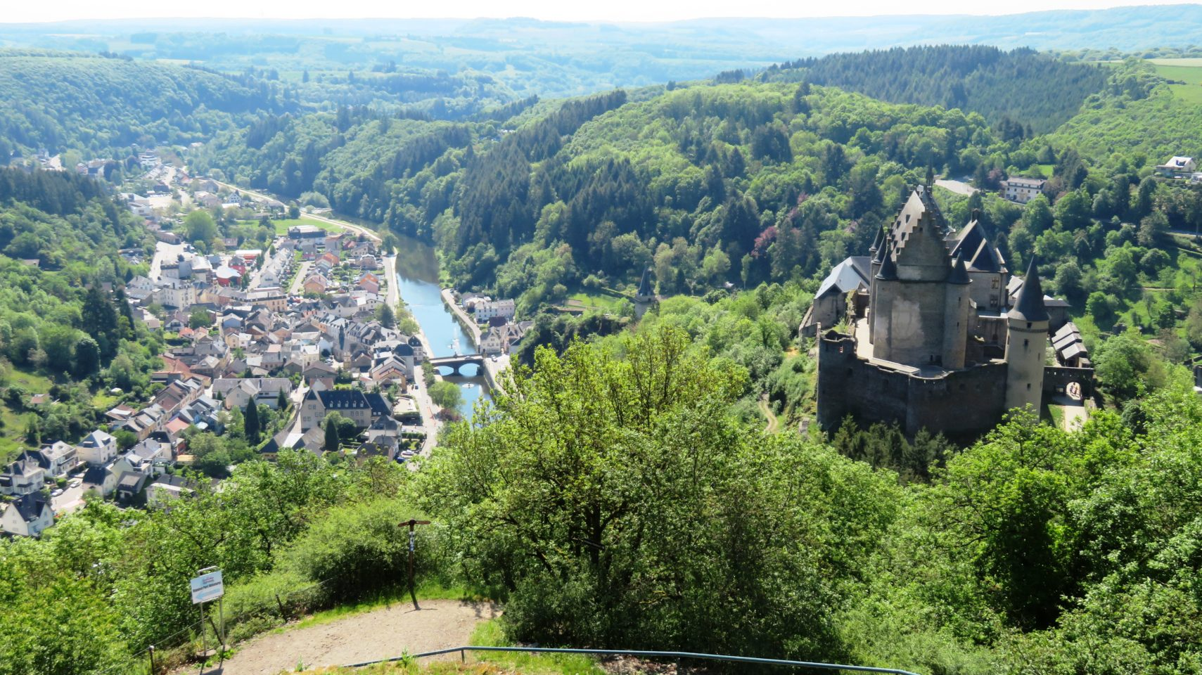 Castle and Town of Vianden in Vianden, <em><strong>Luxembourg</strong></em>