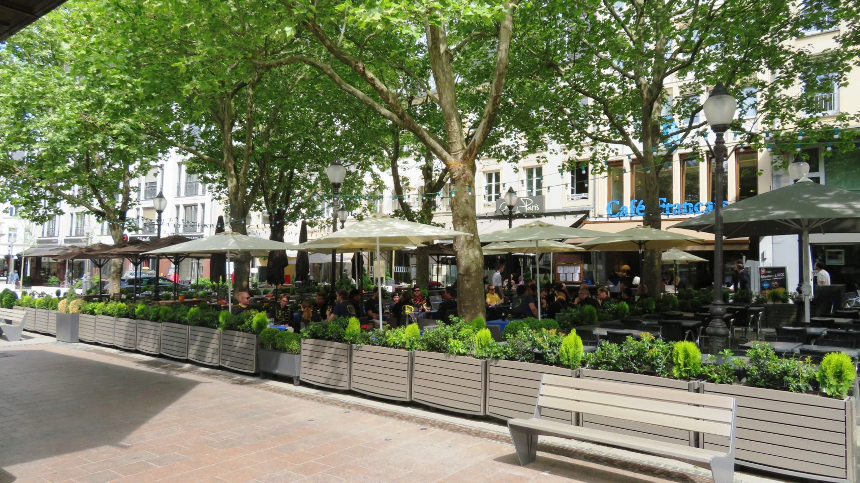 Outdoor Cafes on Place d'Armes in Luxembourg City, <em><strong>Luxembourg</strong></em>