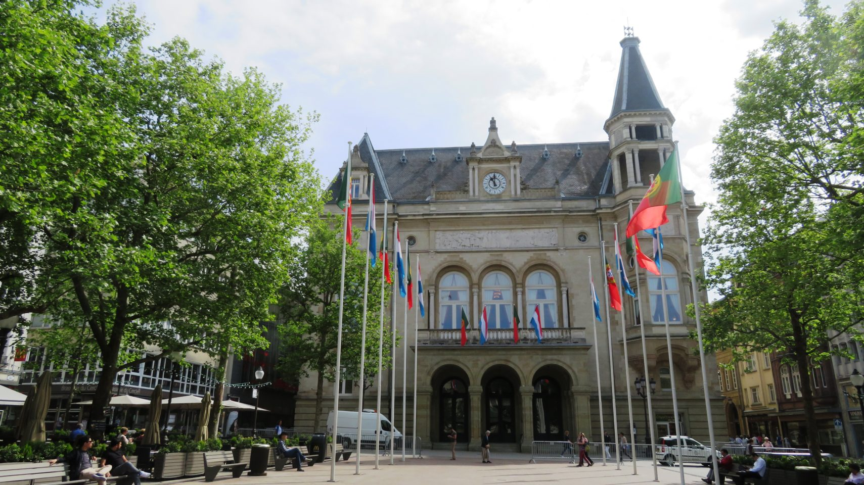 Cercle Cite Luxembourg Palace and Place d'Armes in Luxembourg City, <em><strong>Luxembourg</strong></em>