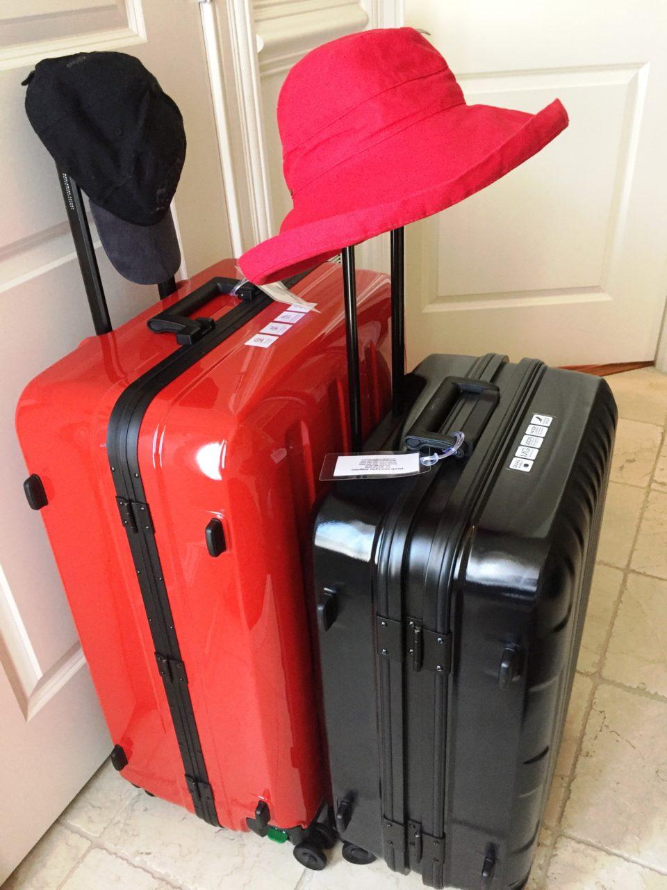 Lojel Luggage ~ Red Lojel Novigo and black Lojel Kozmos suitcases