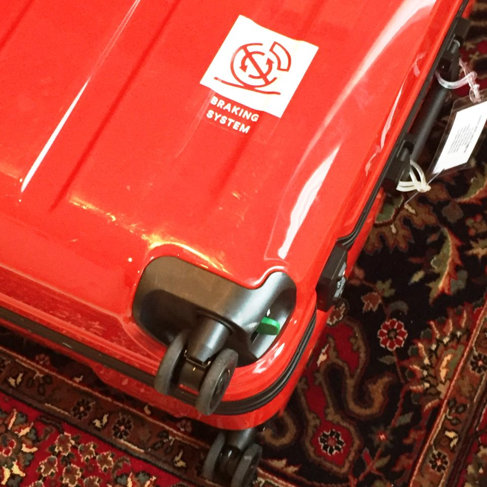 Lojel Luggage ~ Smooth and silent dual-wheel system with brake