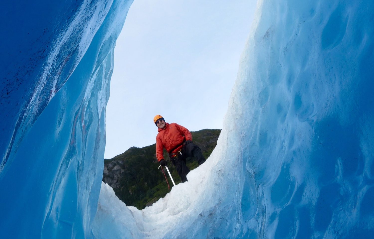 The Art of Travel Preparation ~ Denis on a glacier during Our Extraordinary Land and Sea Alaska Cruise with Princess Cruises