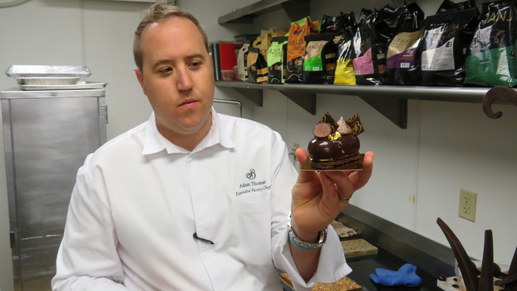 Culinary Excellence at <em><strong>The Broadmoor</strong> </em>~ Executive Pastry Chef Adam Thomas with one of his divine chocolate creations