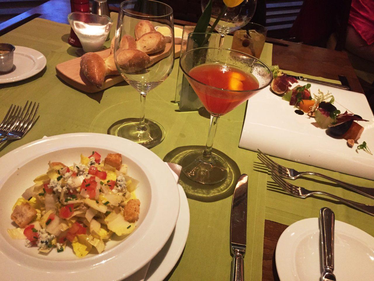 The Broadmoor Restaurants ~ Phillips Salad and Desperado Cocktail at The Summit