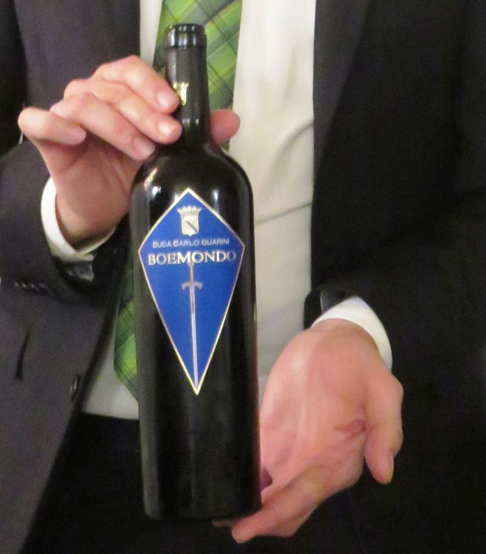 Bottle of complex, elegant and full-bodied NegroAmaro Boemondo red wine ~ The Wholesome Charms of Salento