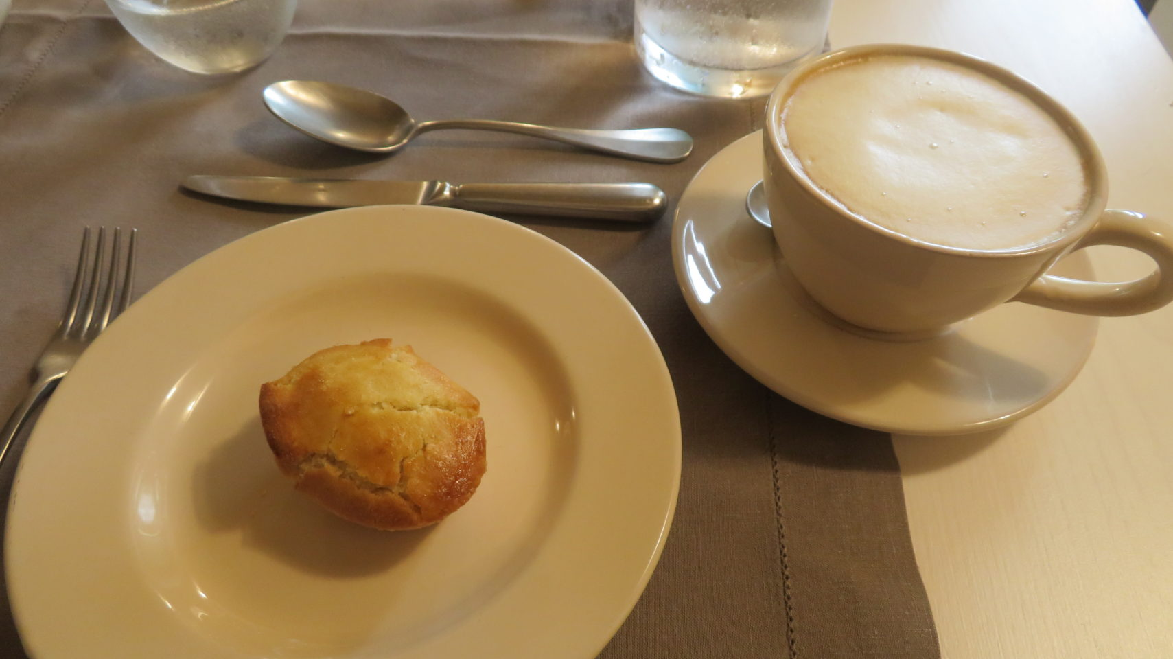Cappuccino with pasticiotto, the world-famous baked custard-filled pastry invented in Galatina near Lecce ~ The Provincial Charms of Salento