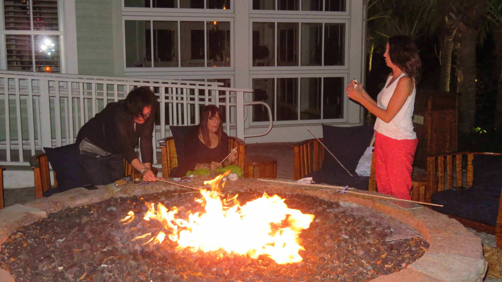 Time for s'mores at one of the fire pits of the Hyatt Regency Coconut Point ~ Gem of a Florida Resort