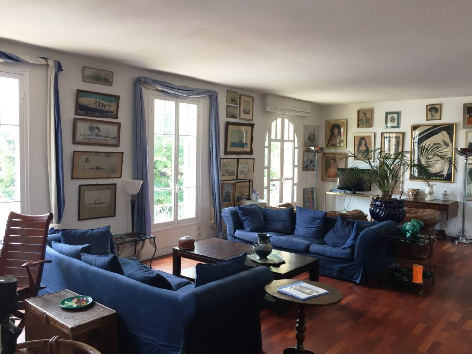 Living room of our spacious and comfortable #13 Cours Saleya apartment ~ Our Love Affair with the city of Nice & the Côte D'Azur