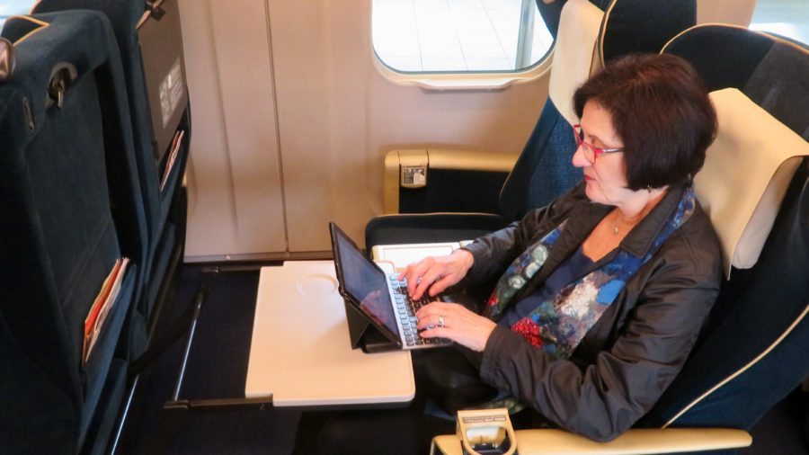 Japan Travel ~ High Speed Shinkansen trains in Japan with wide reclining seats are very roomy and comfortable
