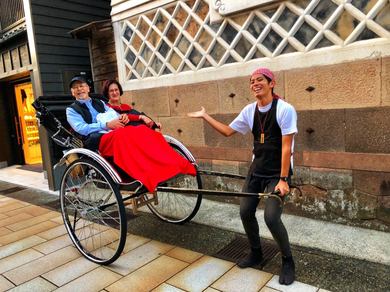 Japan Favorite Experiences ~ A rickshaw ride thru old Kanazawa
