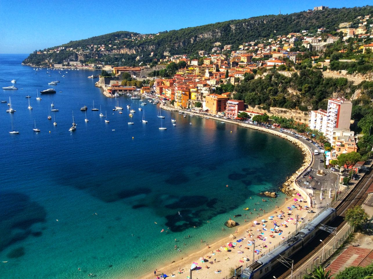 Villefranche-sur-Mer near Nice in France