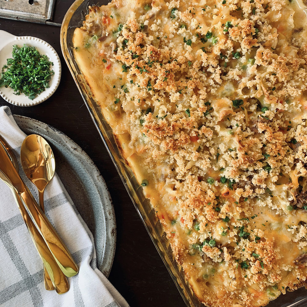 Cheesy Salmon Hot Dish
