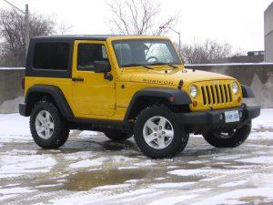 2008 Yellow Jeep Wrangler 4x4