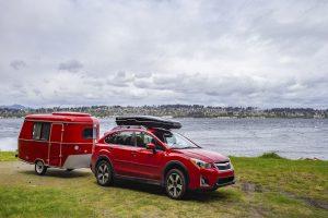 Red Car & Trailer Overlanding