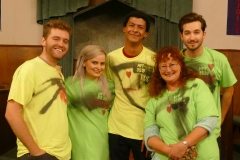 Cast in Toxic Avenger t-shirts