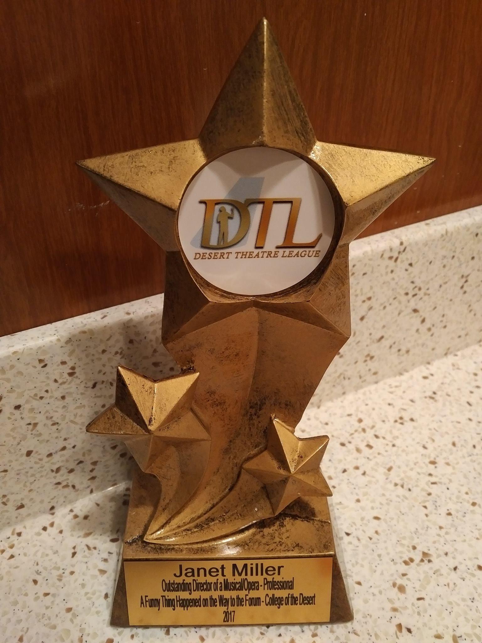 Desert Theatre League Award - 2017 - Janet Miller