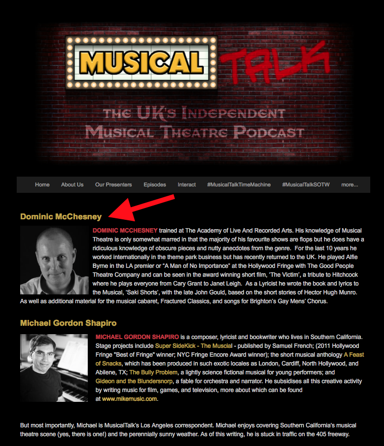 MusicalTalk Podcast with Dominic McChesney