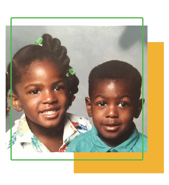 My kids when they were young, Leah and David