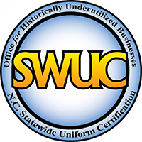 Certification for the North Carolina's office of Historically Underutilized Businesses