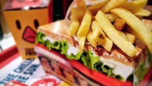 Fast food box of fries