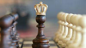 Chess King Wearing Crown