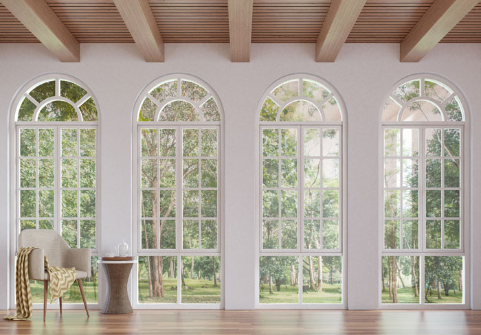 Large arched windows